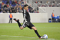 FC Dallas goalkeeper Dario Sala (44). The New York Red Bulls defeated FC Dallas 2-1 during a Major League Soccer (MLS) match at Red Bull Arena in Harrison, NJ, on April 17, 2010.