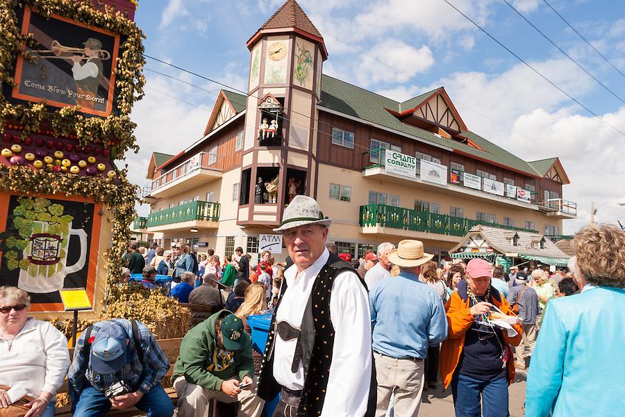 The Glockenspiel in Mt Angel Oregon, photographed during Oktoberfest.