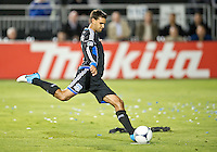 SANTA CLARA, CA - July 18, 2012: San Jose Earthquake forward Chris Wondolowski (8) during the San Jose Earthquakes vs  FC Dallas match at the Buck Shaw Stadium in Santa Clara, California. Final score San Jose Earthquakes 2, FC Dallas 1.