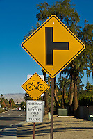 Bicycle, Yield triangular traffic Sign