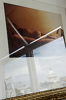 Reflections of Paris and the cupola of the Pantheon are seen superimposed on this photographic print by David Hamilton