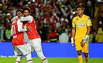 Independiente Santa Fe igualó como local 1-1 ante Atlético Nacional. Semifinales ida Liga Águila II-2016.