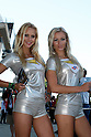 May 23, 2010 - Le Mans, France - Grid girls are pictured during the French Grand Prix on May 23, 2010. (Photo Andrew Northcott/Nippon News).