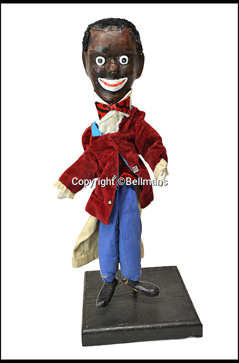 BNPS.co.uk (01202 558833)<br /> Pic: Bellmans/BNPS<br /> <br /> Non PC 'Black Man'.<br /> <br /> Beats Blackpool - Punch&amp;Judy puppets that graced Cannes on the Cote d'Azur in the 1960's for sale.<br /> <br /> A collection of vintage puppets made for a French Punch and Judy puppeteer over 50 years ago have emerged for sale.<br /> <br /> The 10 papier mache pieces include wife-beating Mr Punch, his long-suffering partner, the crocodile, the policeman and the judge.<br /> <br /> The collection is also made up of five lesser-known characters that feature in the seaside show.<br /> <br /> These are the Chinaman, the black man, the pirate, the chauffeur and the skeleton.
