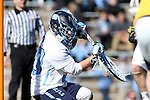 06 February 2016: North Carolina's Brian Balkam makes a save. The University of North Carolina Tar Heels hosted the University of Michigan Wolverines in a 2016 NCAA Division I Men's Lacrosse match. UNC won the game 20-10.