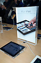 March 16, 2012, Tokyo, Japan - In the Ginza Apple store shopper can try out new features of the new iPad. .Fans lined up overnight outside the Apple store in Ginza, to buy the new iPad. Japan was one of the first countries where Apple fans could get their hands on the new iPad.