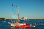 Ships on Frenchman Bay in Bar Harbor, Maine, USA