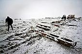 Niegowa 01.2010 Poland<br /> Filled columns with high-voltage.<br /> Three atmospheric forces: rain, snow and frost have changed into an ecological disaster the Myszkowski district in the Czestochowskie province, located 230 kilometers south of Warsaw. Almost 95% of all trees are down.Thousands of homes are left without electricity.<br /> Photo: Adam Lach / Napo Images for Newsweek Polska<br /> <br /> Zawalone slupy wysokiego napiecia.<br /> Wstepnie &quot;tylko&quot; 95% scietych drzew w dwoch powiatach. 0.5 miliona metrow szesciennych zniszczonych lasow..Tysiace gospodarstw bez pradu. Wszyscy maja swiadomosc, ze na kumulacje trzech niekorzystnych .zjawisk atmosferycznych rady nie ma.Trzy zjawiska kt&oacute;re zamienily jeden z obszarow Polski w istna katastrofe ekologiczna: deszcz, snieg i szadz.<br /> Fot: Adam Lach / Napo Images dla Newsweek Polska