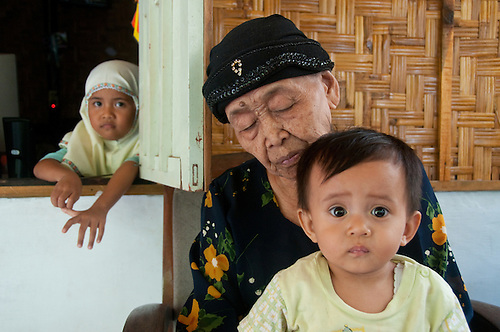 Indonesia, Java. Survivors of terrible earthquake begin to rebuild their lives again.