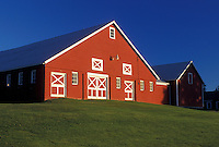 red barn, Vermont, VT, farm, scenic countryside, North Hero.