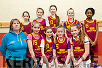 Community Games Basketball: The Duagh U/13 girls Basketball team pictured in the Duagh Sports centre on Saturday last. Front : Claire Sheehy, Coach, Roisin Maher, Tara Galvin, Grace Moore & Halle O'Sullivan. Back : Nuala Moloney, Angharad Cudlipp, Lucy Horgan, Amy Sheehy & Iyana Alausa.