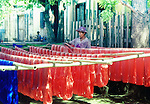 A silk spinning and dyeing factory near Mandalay, Myanmar.