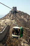 Asia, China, Beijing. Gondola of the Great Wall at Badaling