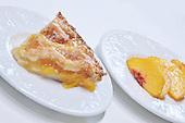 Stock photo of peach pie