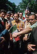 """Manhattan, New York City, NY - June 29th, 1970.                                                                       More than 150,000 attended an """"Italian-American Unity Day Rally"""" held in Manhattan's Columbus Circle. Head of the Colombo crime family Joe Colombo Snr. (June 16, 1923 – May 22, 1978) and his son Joseph led the rally."""