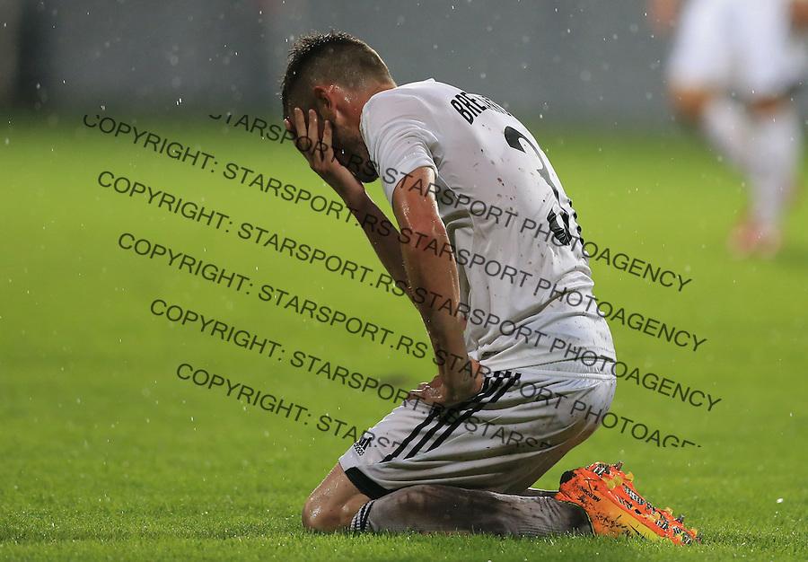 Fudbal Football Soccer<br /> UEFA Europa league-Second qualifying round, First leg<br /> Cukaricki v Grodig Austria<br /> Rajko Brezancic reacts<br /> Beograd, 07.17.2014.<br /> foto: Srdjan Stevanovic/Starsportphoto &copy;