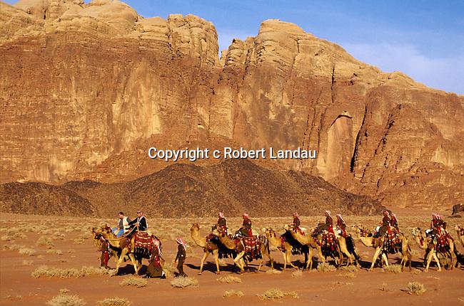 Peter Greenberg and King Abdullah II of Jordan on camel ride through Wadi Rum