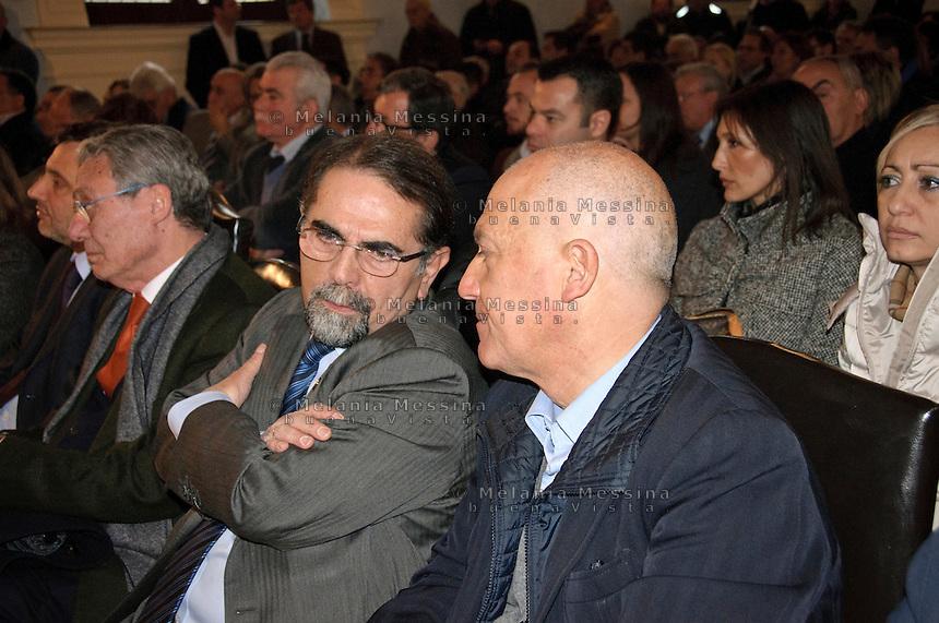 Mario Baldassarri, attualmente capogruppo di Futuro e Libertà per l'Italia al Senato della Repubblica..Mario Baldassarri currently leader of Future and Freedom for Italy at the Senate of the Republic.