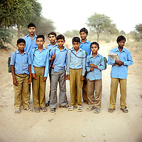 Schoolchildren in south Rajasthan.
