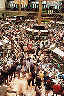 Oct 20, 1987, New York City: Interior of the New York Stock Exchange on Wall Street the day after Black Monday,when stock markets around the world crashed.