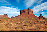 West and East Mittens and Merrick Butte, Monument Valley Navajo Tribal Park, Navajo Nation Reservation, Utah/Arizona Border