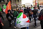 "Italy, Rome, November 5, 2011..Italy demonstrators by the Centre-lef party (Democratic Party)  take part in a rally against the government of Italian Prime Minister Silvio Berlusconi at the at the San Giovanni square in Rome November 5 , 2011. VIEWpress / Eduardo Munoz Alvarez..Italy's opposition crowded few street of Rome during a rally on Saturday demanding Silvio Berlusconi's resignation, the opposition ""DP"" is accusing the prime minister of dragging the country into bankruptcy and global shame. International newspapers reported."