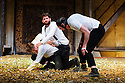 "Schaubuhne Berlin presents ""Richard III"", by William Shakespeare, at the Lyceum Theatre, as part of the Edinburgh International Festival. Picture shows: Sebastian Schwarz (Hastings, Brakenbury, Ratcliff), Christoph Gawenda (Clarence, Dorset, Stanley, Prince of Wales), Lars Eidinger (Richard III)"