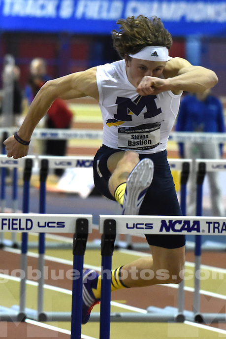 The University of Michigan men's track team competes in the NCAA D1 2016 Indoor Track & Field Championships at the Birmingham Crossplex in Birmingham, Ala., Saturday, March 12, 2016.