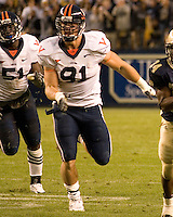 02 September 2006: Virginia defensive end Chris Long (91)..The Pitt Panthers defeated the Virginia Cavaliers 38-13 on September 02, 2006 at Heinz Field, Pittsburgh, Pennsylvania.