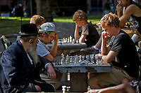The Chess Players - Washington Square Park - New York City
