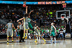 03 APR 2012:  Brittney Griner (42) of Baylor University tips off against Devereaux Peters (14) of the University of Notre Dame during the Division I Women's Basketball Championship held at the Pepsi Center in Denver, CO.  Jamie Schwaberow/NCAA Photos