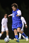06 November 2012: Duke's Zach Mathers. The University of North Carolina Tar Heels defeated the Duke University Blue Devils 1-0 at Fetzer Field in Chapel Hill, North Carolina in a 2012 NCAA Division I Men's Soccer game. The game was an Atlantic Coast Conference quarterfinal match.