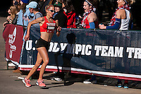 Jen Rhines in homestretch of women's marathon