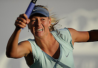 Maria Sharapova defeated Zheng Jie 6-4, 7-5, in the opening round of the Bank of the West Classic, in Stanford, California, July 27, 2010.