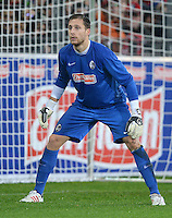 FUSSBALL   1. BUNDESLIGA   SAISON 2012/2013  15. SPIELTAG     SC Freiburg - FC Bayern Muenchen      28.11.2012 Torwart Oliver Baumann (SC Freiburg)