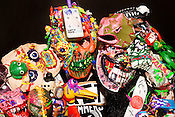 May 2, 2015. Stokesdale, North Carolina.<br />  Scotty Irving, the lone member of Clang Quartet, has been playing Christian noise music since 1997. Irving designs and builds a series of masks and other wearable instruments with sound pedals and microphones imbedded into the repurposed science fiction and monster toys that he has deconstructed for the needs of his art. His 20 to 30 minute show is a statement on his sins and his journey past them on the way to finding Jesus.