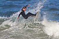 Hard cut, California surfer slices  it up in Morro Bay California