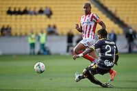 Roy Krishna in action during the A League - Wellington Phoenix v Melbourne City at Westpac Stadium, Wellington, New Zealand on Sunday 30 November 2014.