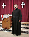 Iraq - Kurdistan - Erbil -  Father Eisha, priest at Saint George Church, Assyrian Church of the East, Erbil