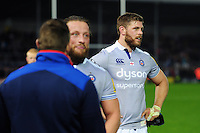 Dave Attwood of Bath Rugby looks on after the match. Aviva Premiership match, between Exeter Chiefs and Bath Rugby on October 30, 2016 at Sandy Park in Exeter, England. Photo by: Patrick Khachfe / Onside Images
