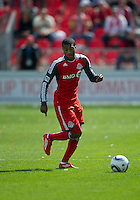 17 September 2011: Toronto FC defender Ashtone Morgan #5 in action during an MLS game between the Colorado Rapids and the Toronto FC at BMO Field in Toronto, Ontario Canada..Toronto FC won 2-1.