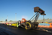 Jan. 19, 2012; Jupiter, FL, USA: NHRA top fuel dragster driver Morgan Lucas during testing at the PRO Winter Warmup at Palm Beach International Raceway. Mandatory Credit: Mark J. Rebilas-