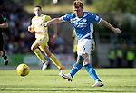 St Johnstone v Hearts&hellip;17.09.16.. McDiarmid Park  SPFL<br />Liam Craig&rsquo;s shot is mishandled by Hearts keeper Jack Hamilton who just managed to stop it going over the line<br />Picture by Graeme Hart.<br />Copyright Perthshire Picture Agency<br />Tel: 01738 623350  Mobile: 07990 594431