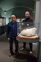 "Bristol, UK. 28.11.2015. Artists, John Wood and Paul Harrison, present ""Erdkunde: The Study of the Earth"", a new video work inspired by Bristol Museum's geology collections. The work forms part of the New Expressions 3 series of new collaborations. Picture shows: Artists, John Wood and Paul Harrison, in the Minerals section at Bristol Museum. Photograph © Jane Hobson."