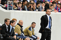Philadelphia Union manager Peter Nowak. The New York Red Bulls defeated the Philadelphia Union 2-1 during a Major League Soccer (MLS) match at Red Bull Arena in Harrison, NJ, on April 24, 2010.