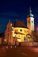 Carmelite church at night  - ( Gy?r )  Hungary