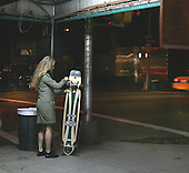 Skate board girl in NYC. photo by jane therese
