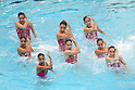 AQLUB Chofu team group, ..AUGUST 14, 2011 - Synchronised Swimming : Mermaid Japan Cup 2011, AQLUB Chofu of perform during the Team technical routine ..at Kyoto Aquarena, Japan. ..(Photo by Akihiro Sugimoto/AFLO SPORT) [1080]