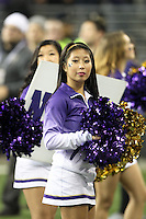 Nov 08, 2014:  Washington cheerleader Jackie Lin pumped up fans during the game against UCLA.  Washington defeated UCLA at Husky Stadium in Seattle, WA.