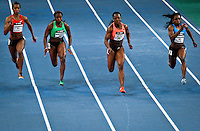 (L_R) Alexandria Anderson from USA, Bianca Knight form USA, Campbell Brown form Jamaica and Jessica Young from USA, compete at Women 50 meter Dash during the U.S open track & Field in the madison Square Garden in New York, United States. 28/01/2012. Photo by Kena Betancur / viewpress
